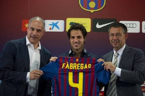 Cesc Fabregas the new #4 of Barça!