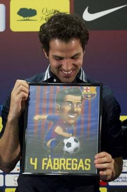 Cesc and his Barça Toon