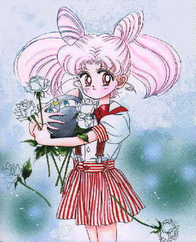 Sailor Mini moon (Rini) wallpaper probably with animê called Chibiusa