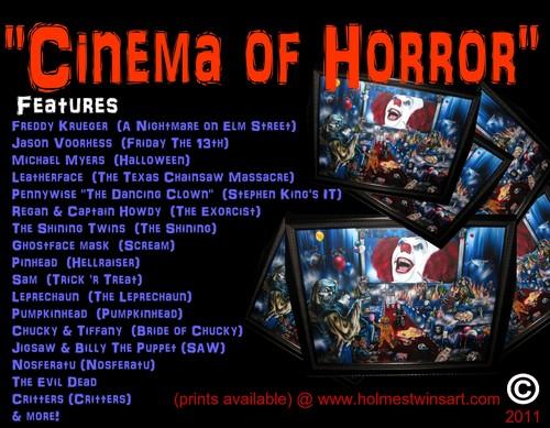 "Cinema of Horror (16x20"" Prisma Drawing)"