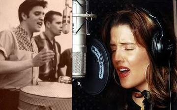 Elvis Aaron e Lisa Marie Presley wallpaper called Daddy and daugther