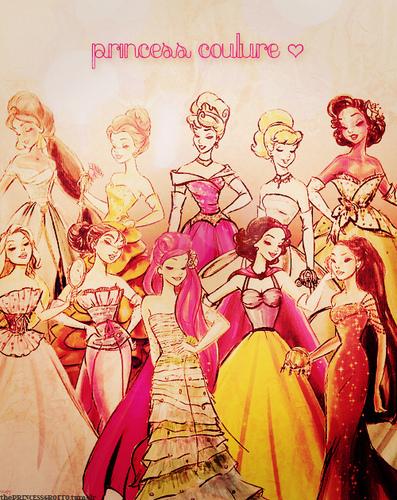 迪士尼 princess line-up