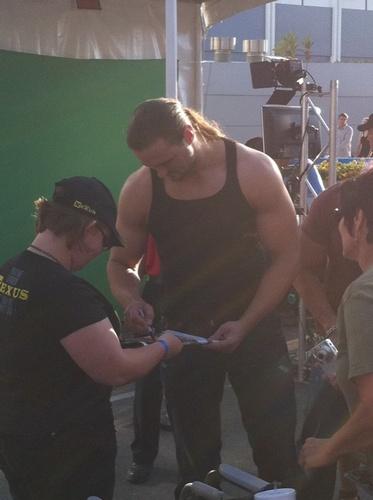 Drew Mcintyre at SummerSlam Axxess (2011)