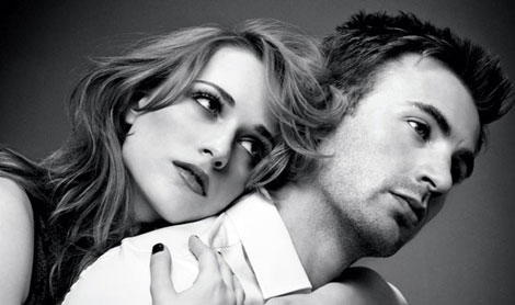 Evan Rachel Wood and Chris Evans Elle photoshoot