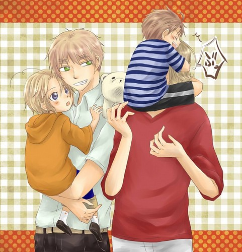 Hetalia wallpaper probably containing anime entitled FACE family <3