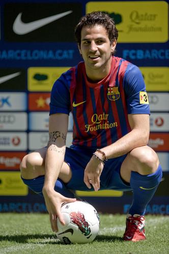 FC Barcelona Unveils New Signing Cesc Fabregas