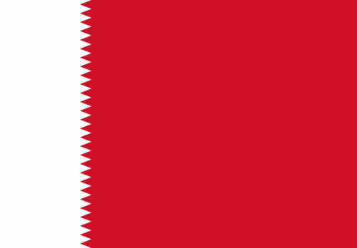 Flag of Bahrain (1932 to 1972)