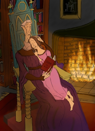 Frollo Reads to Belle