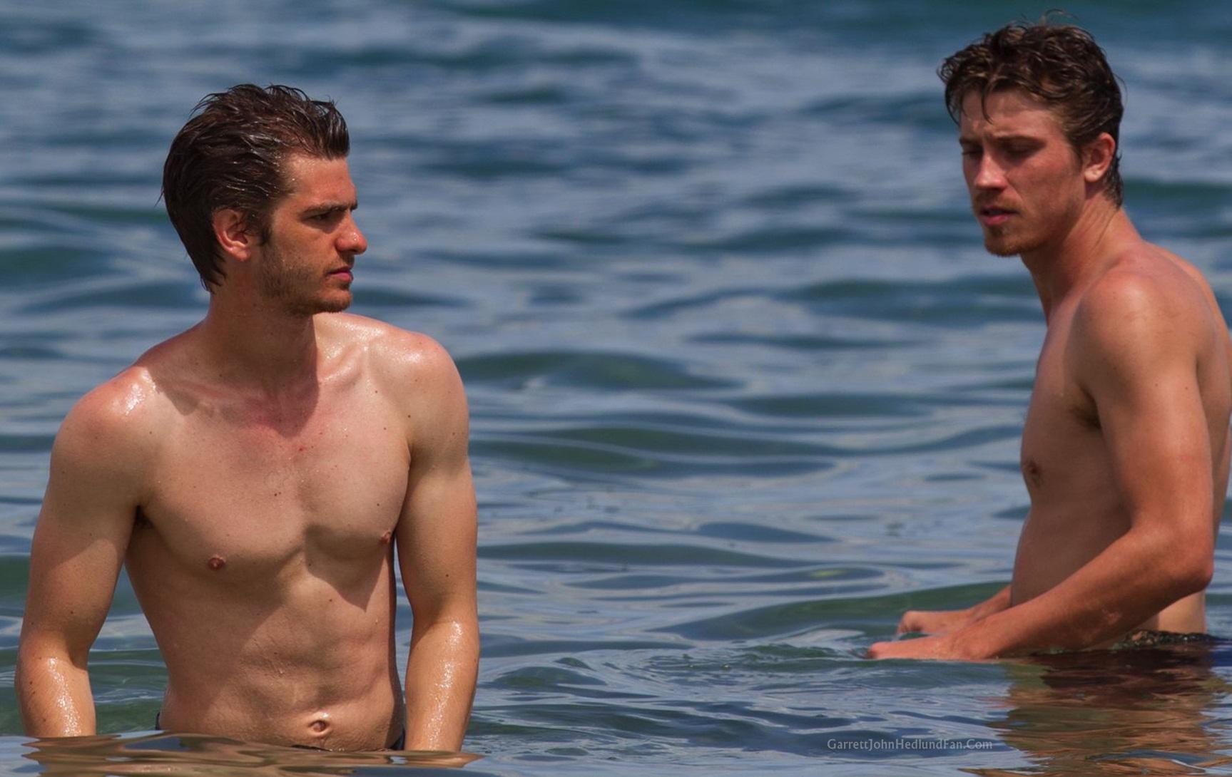 Garrett and Andrew on the beach