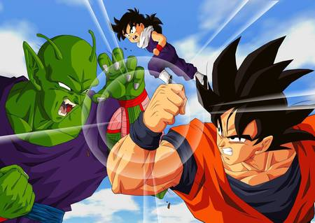 Goku and Piccolo