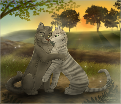 Warriors (Novel Series) वॉलपेपर possibly containing a street, a kitten, and a sign entitled Graystripe & Silverstream