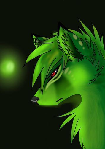 Green エモ Wolf. C: