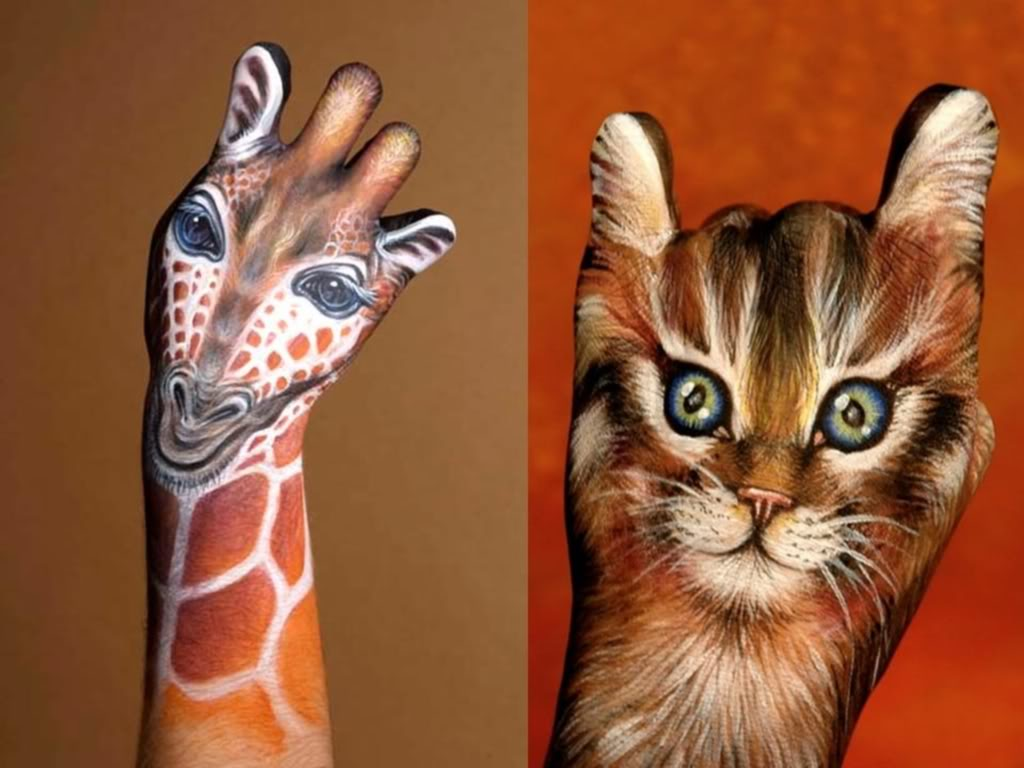 Hand Painting Animals Body Painting Fan Art 24564378 Fanpop