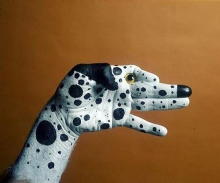 Hand painting body painting photo