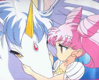 Sailor Mini moon (Rini) wallpaper containing animê entitled Helios and Chibiusa
