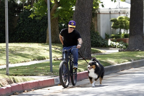Hilary - A Bike ride with Mike in Toluca Lake - August 12, 2011
