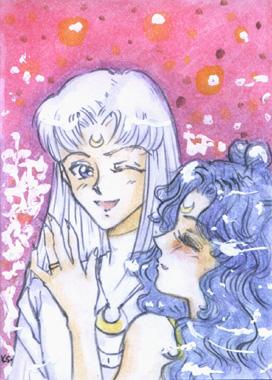 Human Luna and Artemis