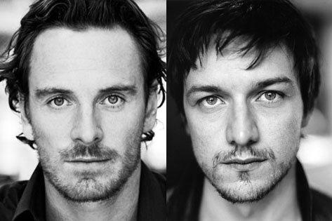 James McAvoy and Michael Fassbender hình nền containing a portrait called Jimmy & Mikey!