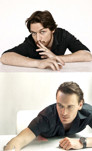 James McAvoy and Michael Fassbender वॉलपेपर containing a hot tub and a bathtub called Jimmy & Mikey!