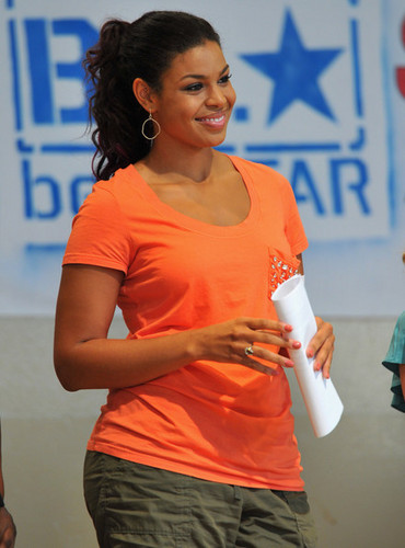 "Jordin Sparks wallpaper probably containing a portrait entitled Jordin Sparks: WWE & The Creative Coalition's Rally To Support The ""be a Star"" Anti-Bullying Allianc"