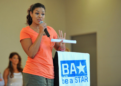 "Jordin Sparks wallpaper titled Jordin Sparks: WWE & The Creative Coalition's Rally To Support The ""be a Star"" Anti-Bullying Allianc"