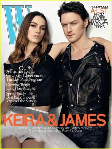 Keira Knightley & James McAvoy 'W Magazine'
