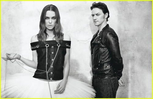 Keira Knightley & James McAvoy 'W Magazine'
