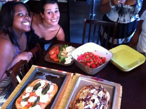 Lea,Jenna and Kevin Cooking @ Amber's house