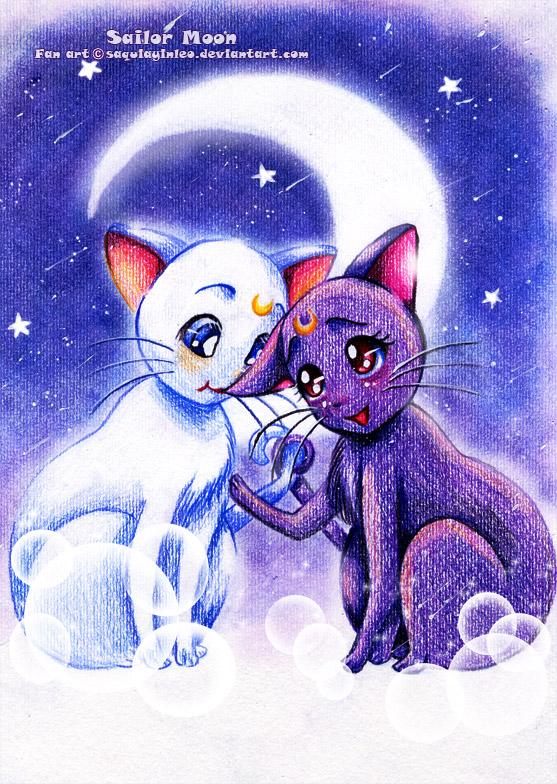 Luna And Artemis Luna Artemis And Diana Fan Art 24556284