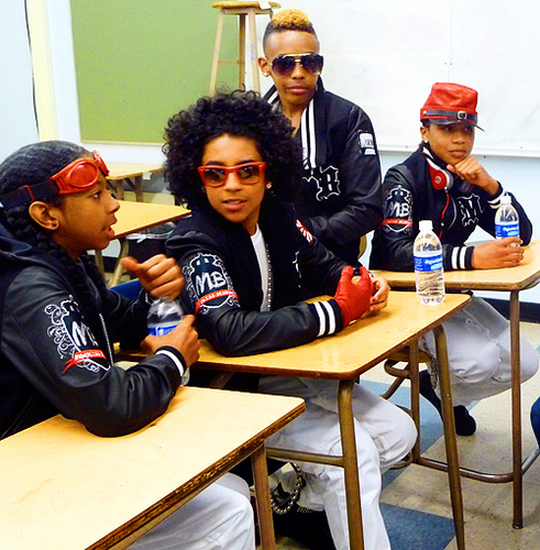 MB on the set of Mrs. Right