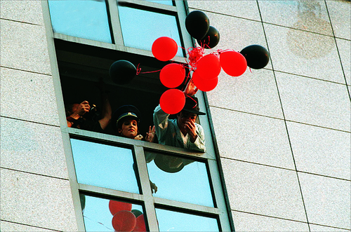 MJ & LMP with balloons