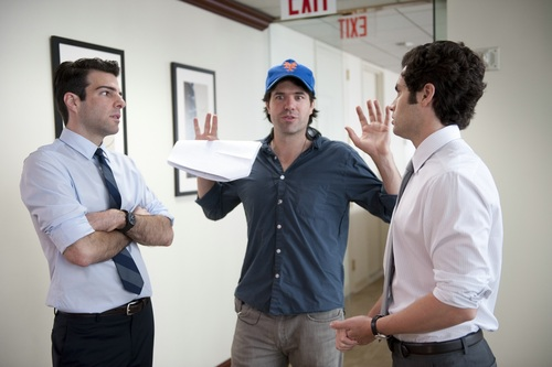 Zachary Quinto wallpaper possibly with a workwear, a leisure wear, and a dress camisa titled Margin Call - Behind the Scenes