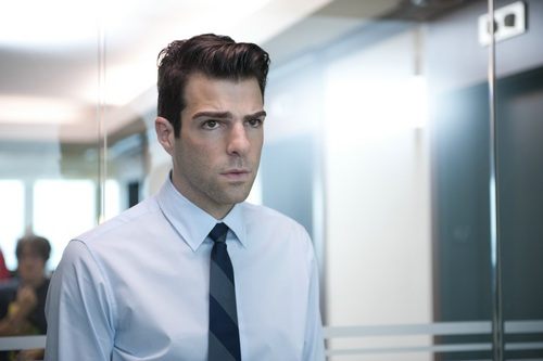Zachary Quinto wallpaper with a business suit titled Margin Call - Stills