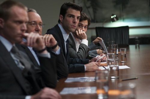 Zachary Quinto wallpaper containing a business suit called Margin Call - Stills