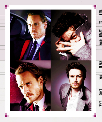 James McAvoy and Michael Fassbender 壁紙 with a business suit titled McFassy