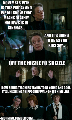 McGonagall being cool