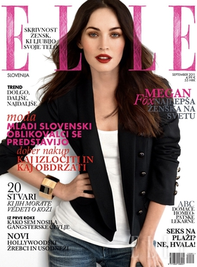 Megan fox, mbweha for Elle Slovenia September 2011