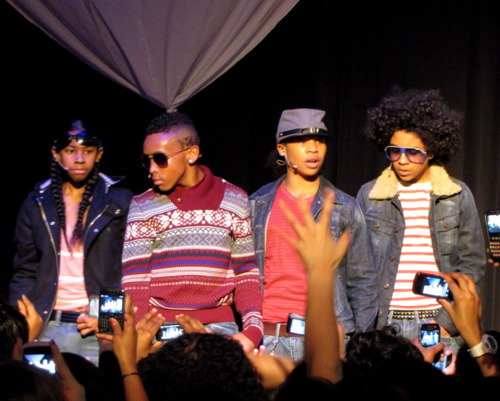 Mindless Behavior performing in Canada