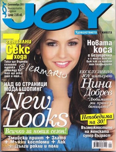 Nina Dobrev wallpaper with anime titled Nina in 'Joy' Magazine,Bulgaria,September Issue 2011
