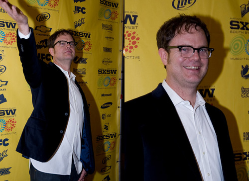 Rainn Wilson wallpaper probably containing a newspaper and a business suit titled Rainn