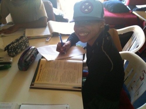 Roc doing homework