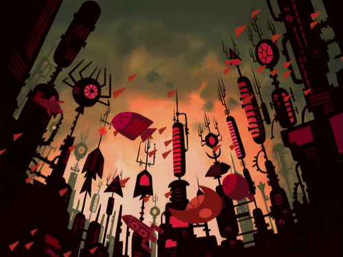Samurai Jack Hintergrund with Anime titled Samurai Jack Titel Sequence