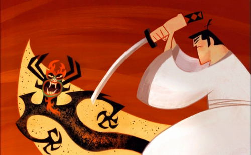 Samurai Jack Hintergrund entitled Samurai Jack Titel Sequence