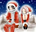 SasuSaku In Christmas Costumes