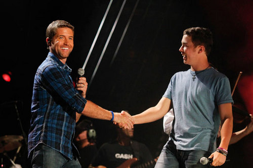 Scotty at the 2011 CMA Musik Festival with Josh Turner