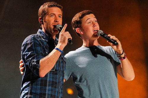 Scotty at the 2011 CMA موسیقی Festival with Josh Turner