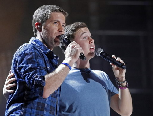 Scotty McCreery images Scotty at the 2011 CMA Music Festival with Josh Turner wallpaper and background photos