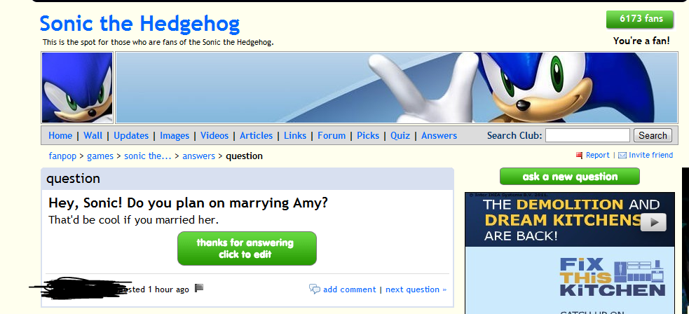 This Person Thinks Sonic The Hedgehog Is Real Facepalm Fanpop Fail Photo 24572313 Fanpop