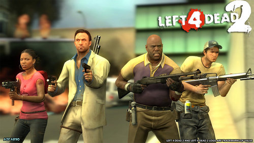 left 4 dead 2 wolpeyper possibly containing a manganganyon and a green birete called left 4 dead 2 mga wolpeyper