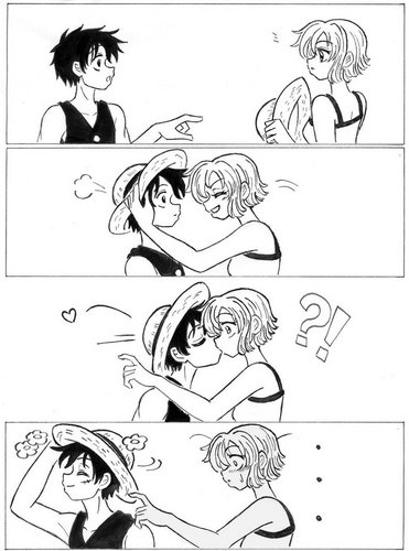 luffyxnami comic
